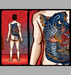 japanese tattoo design vector image vector image