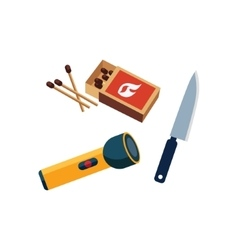 Matches Lamp And Knife vector image