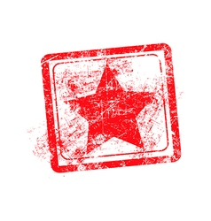star red grunge rubber stamp vector image