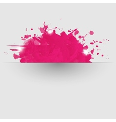 Abstract background with pink paint splashes vector image vector image