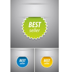 Best seller tag vector image vector image