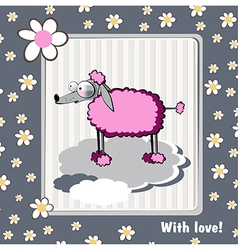 Card with love dog vector image
