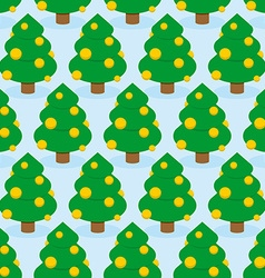 Christmas tree seamless pattern holiday wood vector