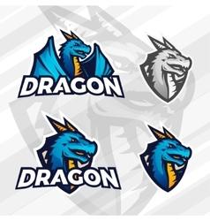 Creative dragon logo concept sport mascot design vector
