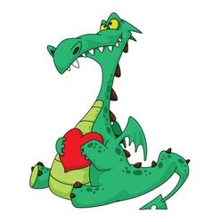 dragon in love vector image