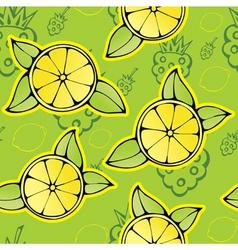 lemon raspberry pattern vector image vector image