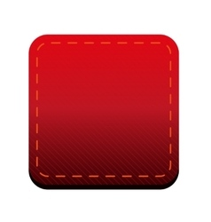 Red line button vector
