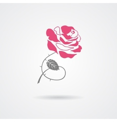 Rose symbol isolated on white background vector image vector image