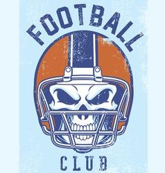 vintage football club design vector image