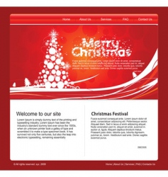 Christmas web template vector image
