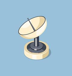 communications satellite dish icon vector image