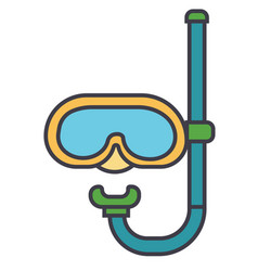 diving mask flat line concept vector image vector image