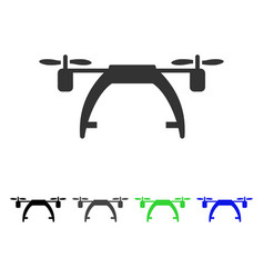 Drone carrier flat icon vector