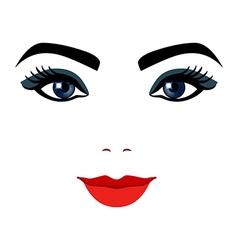 Girl portrait silhouette icon monochrome vector image