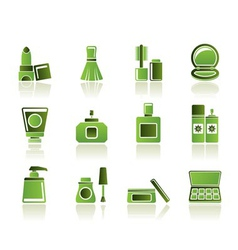 cosmetic industry and beauty icons vector image