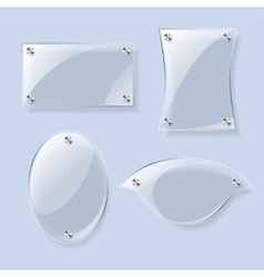 Glass planes collection vector image vector image