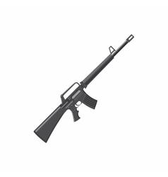 Military rifle icon cartoon style vector image