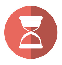 sand clock time icon shadow vector image