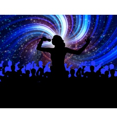 singing and performing vector image