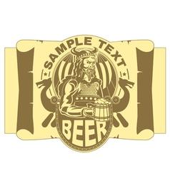 Viking with a mug of beer vector image