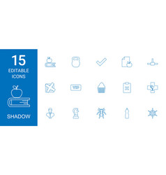 15 shadow icons vector
