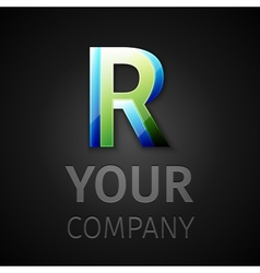abstract logo letter R vector image