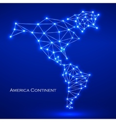 Abstract polygonal map America continent vector image