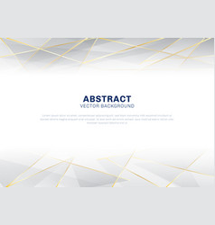 Abstract polygonal pattern luxury on white and vector