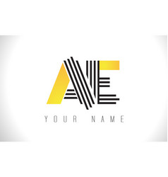 Ae black lines letter logo creative line letters vector