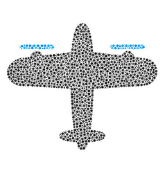 Aircraft collage of dots vector