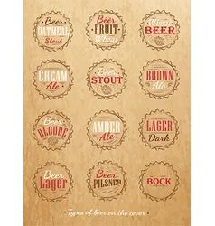 Beer lids craft vector