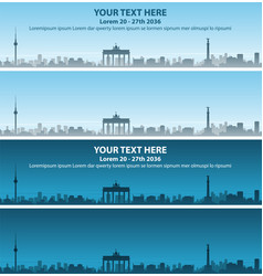 Berlin skyline event banner vector