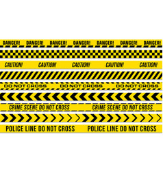 Black and yellow stripes police tape vector