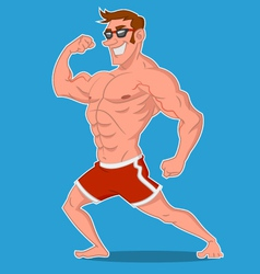 Bodybuilder posing vector