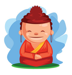 Buddha wishes you happy chinese new year vector