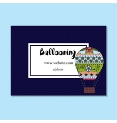 Business card for ballooning vector