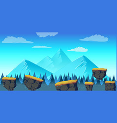 Cartoon landscape for game vector