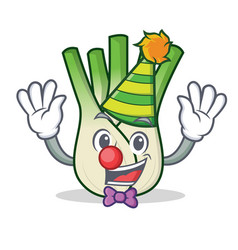 Clown fennel mascot cartoon style vector