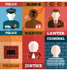 Crime And Punishment Poster Set vector