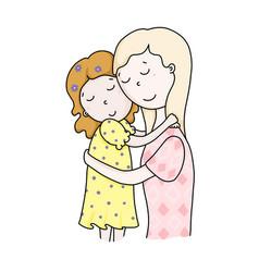 Daughters-mothers mothers day full understanding vector