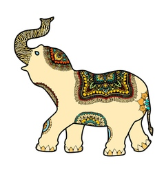 Decorated indian elephant vector