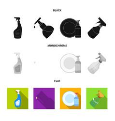 Design sprayer and liquid sign vector