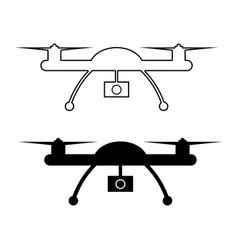 drone with action camera vector image
