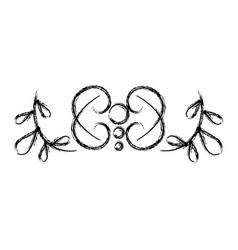 Elegant victorian style design vector