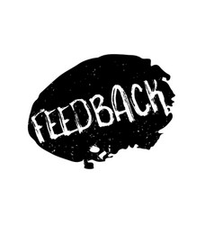 Feedback rubber stamp vector
