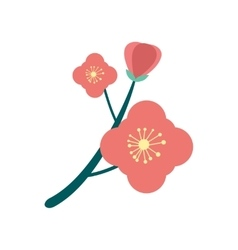 Flat icon on white background branch in bloom vector