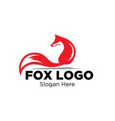 fox logo designs vector image