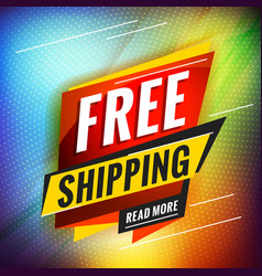 Free shipping promotional concept template for vector