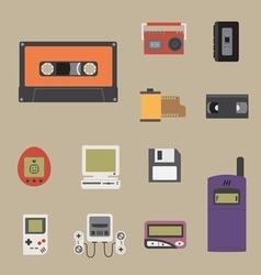 gadget 90s icon vector image
