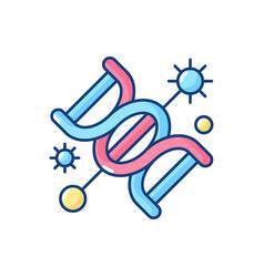 Genetics rgb color icon vector